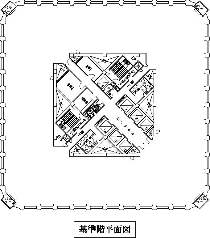15階平面図
